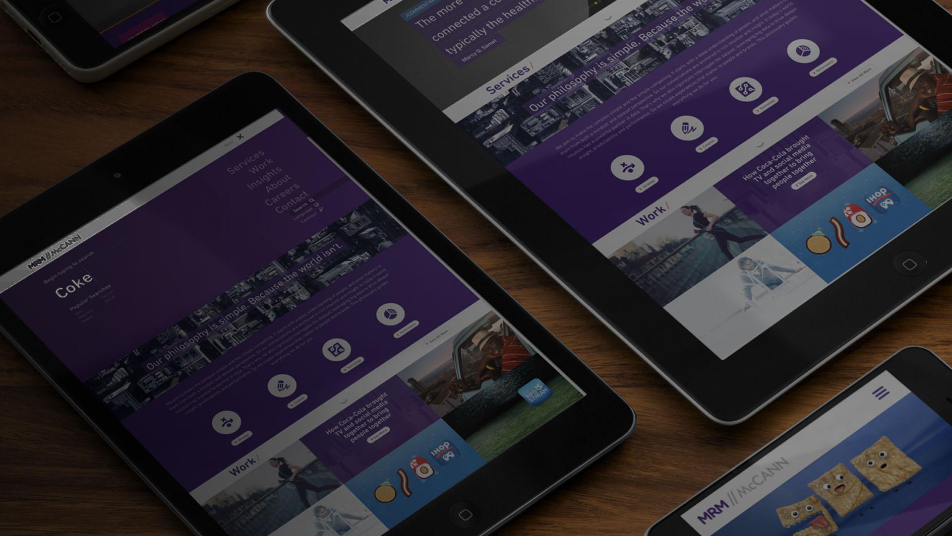 MRM//McCann Website Re-Design